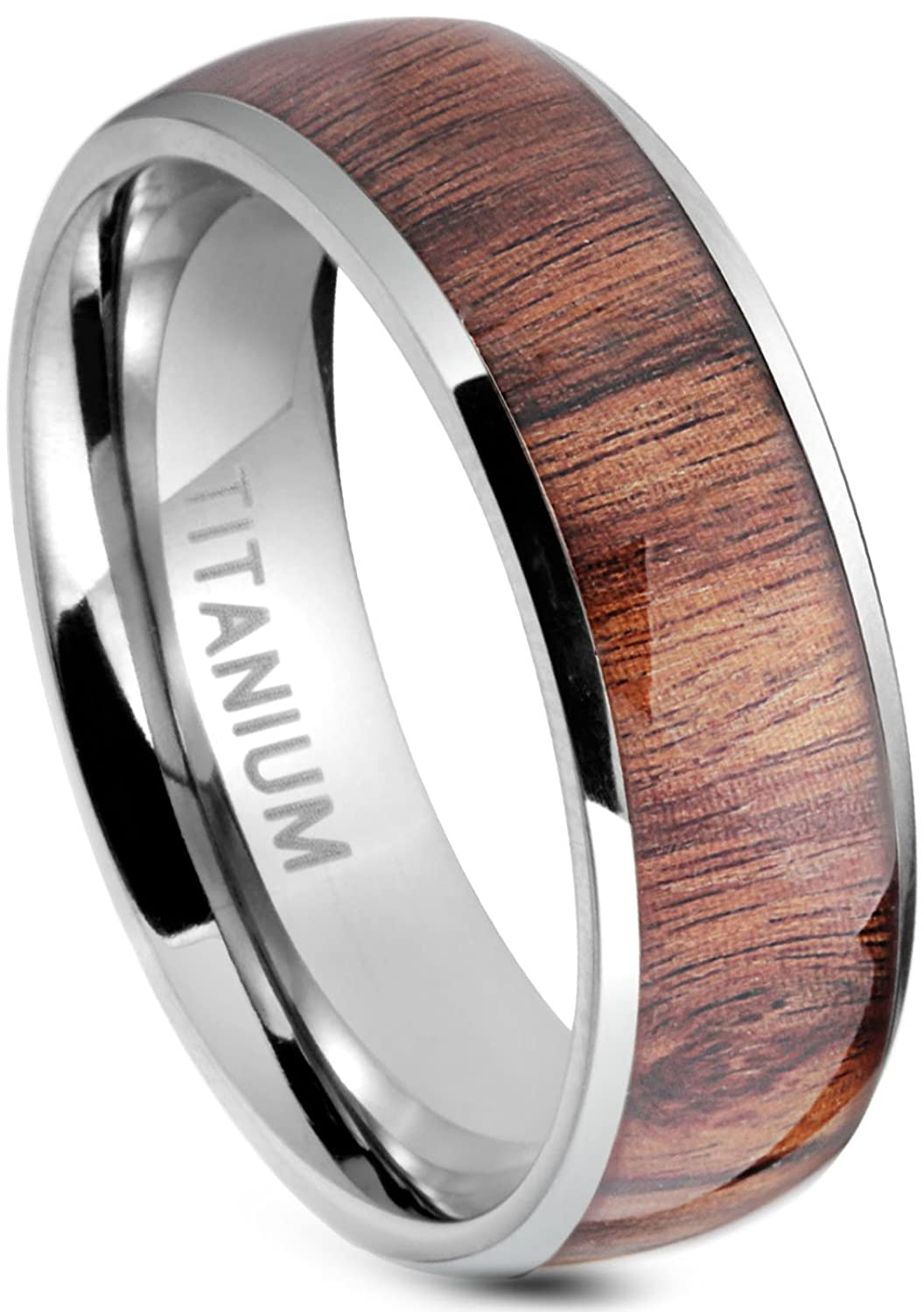 jstyle titanium engagement rings for men vintage wedding band 8mmamazoncom - Mens Titanium Wedding Rings