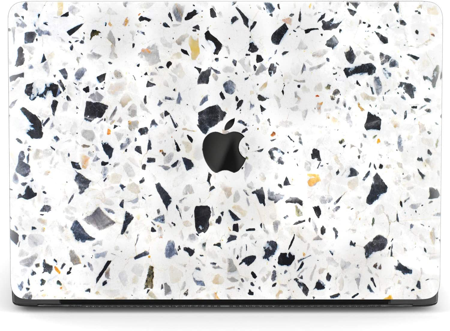 Mertak Hard Case for Apple MacBook Pro 16 Air 13 inch Mac 15 Retina 12 11 2020 2019 2018 2017 Plastic Stone Abstract Texture Cover Granite Marble Print Laptop Protective Design Clear Terrazzo