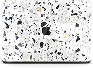Mertak Hard Case Compatible with MacBook Pro 16 Air 13 inch Mac 15 Retina 12 11 2020 2019 2018 2017 Plastic Stone Abstract Texture Cover Granite Marble Print Laptop Protective Clear Terrazzo