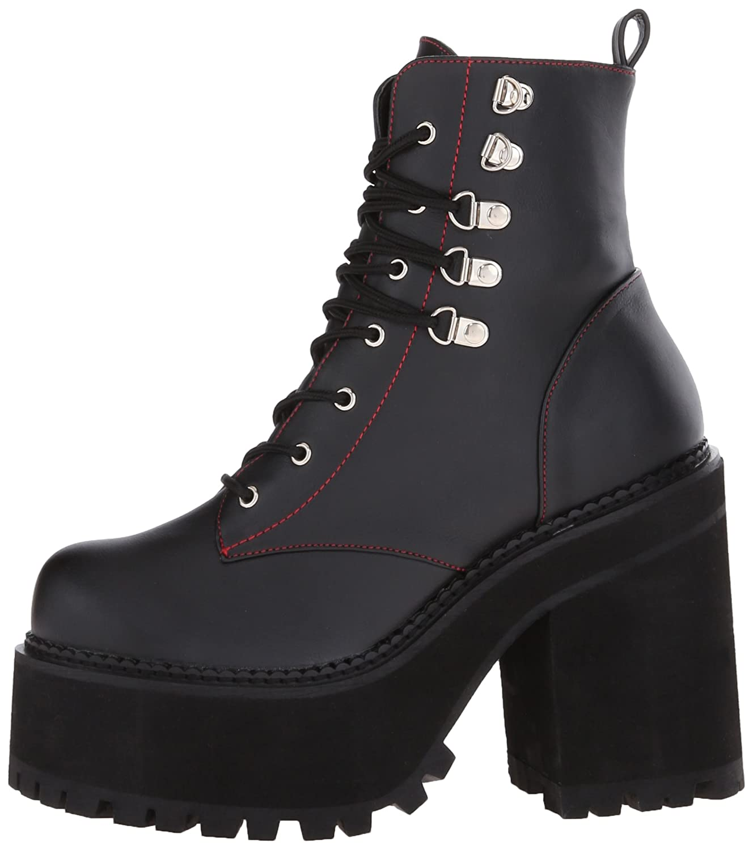 Demonia Women's ASST100/BVL Boot B014J068HA 9 B(M) US|Black Vegan Leather