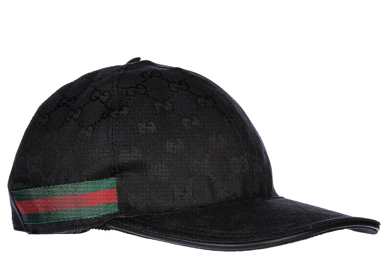 ad22b11cc Gucci adjustable men's cotton hat baseball cap black: Amazon.co.uk ...