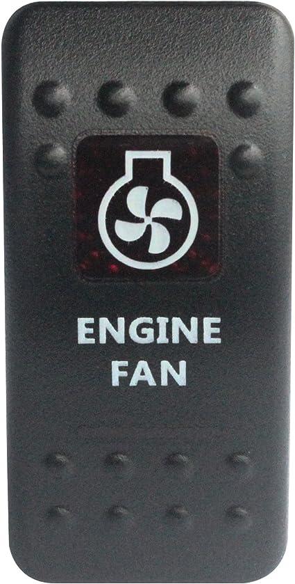 Interruptor basculante para ventilador de coche BANDC 12 V/24 V ...