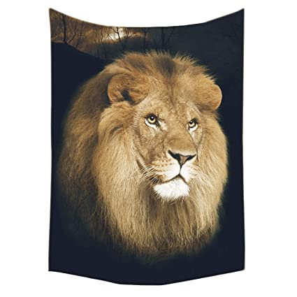 Amazon Bedsure Lion Flannel Fleece Throw Blanket Throw Size Mesmerizing Lion Blanket Or Throw
