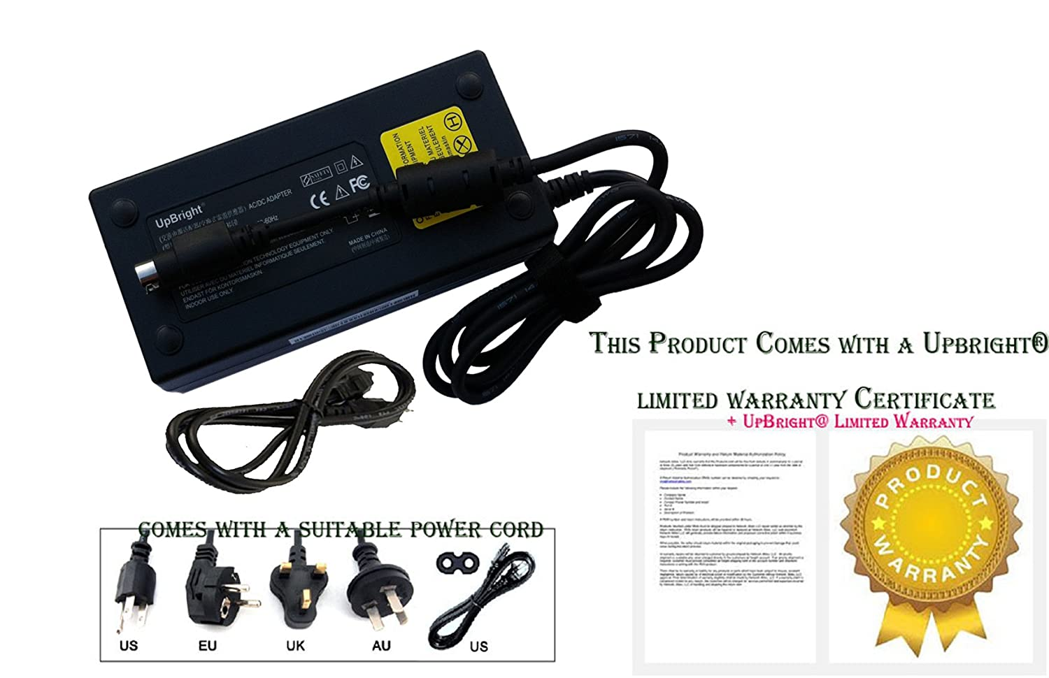 UpBright NEW Global 4-Pin DIN AC/DC Adapter For Thrustmaster T500 RS