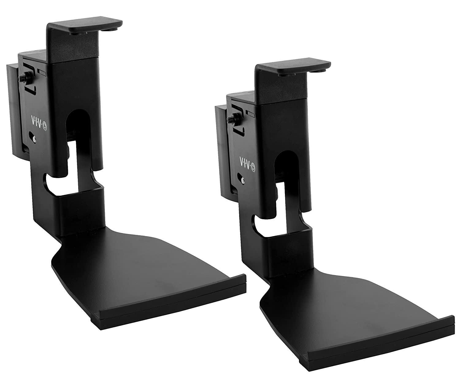 VIVO Black Dual Wall Mount Designed for SONOS Play 5 Gen 2 Brackets - Adjustable Tilt, Swivel Mounting for Two (2) Play:5 Audio Speakers (MOUNT-PLAY5B)