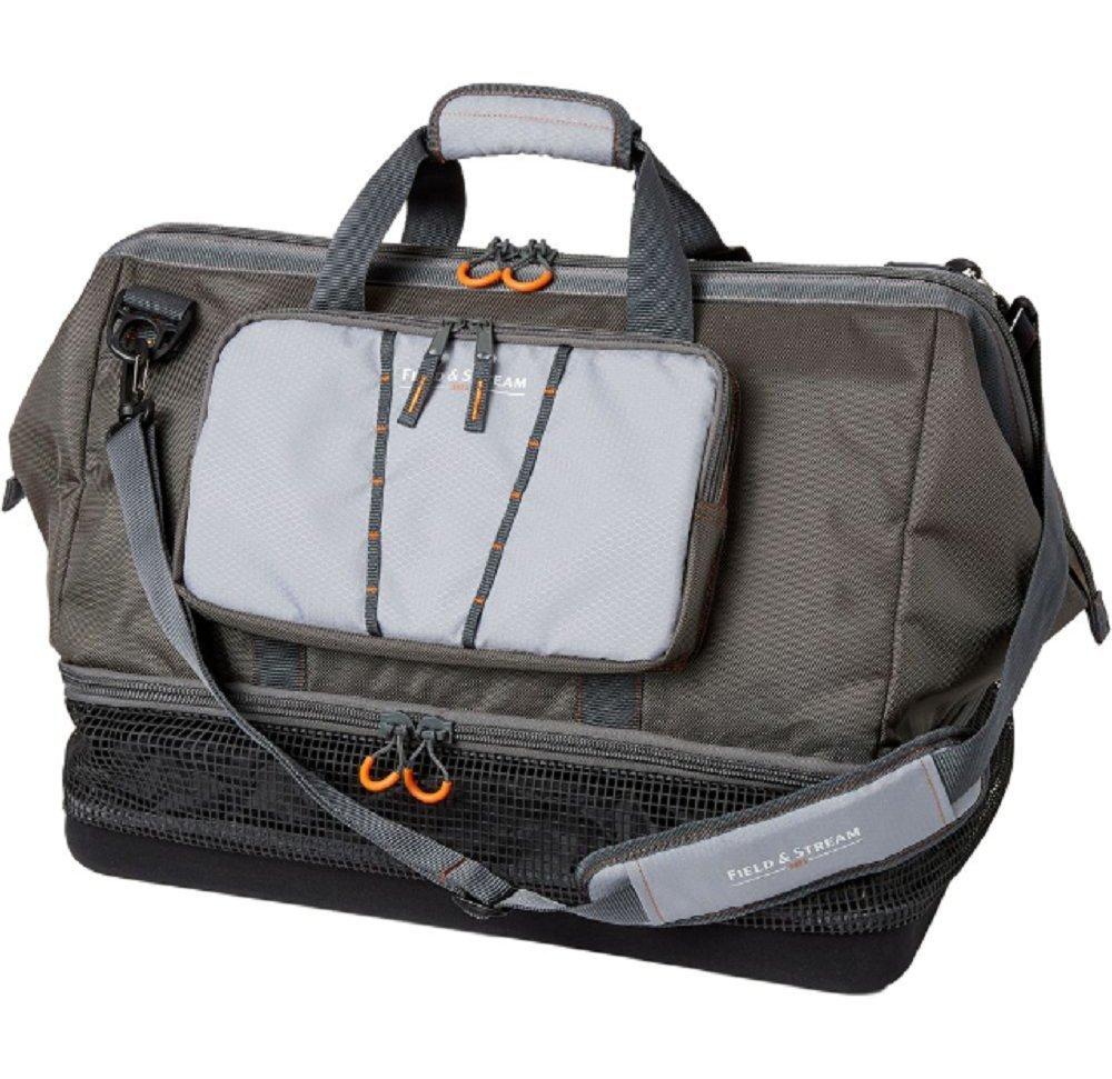 Field & Stream Pro Wader Bag Padded handle grip, Gray
