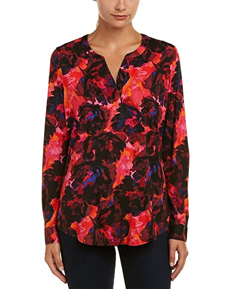 Amazon.com: NYDJ Knit Henley de la mujer blusa con manguito ...