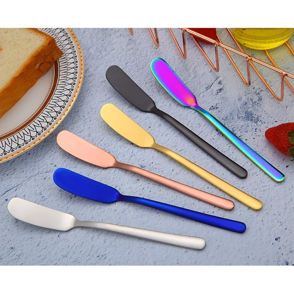 Compra Linyuo Juego de 7 Cuchillos de Mantequilla de Acero ...