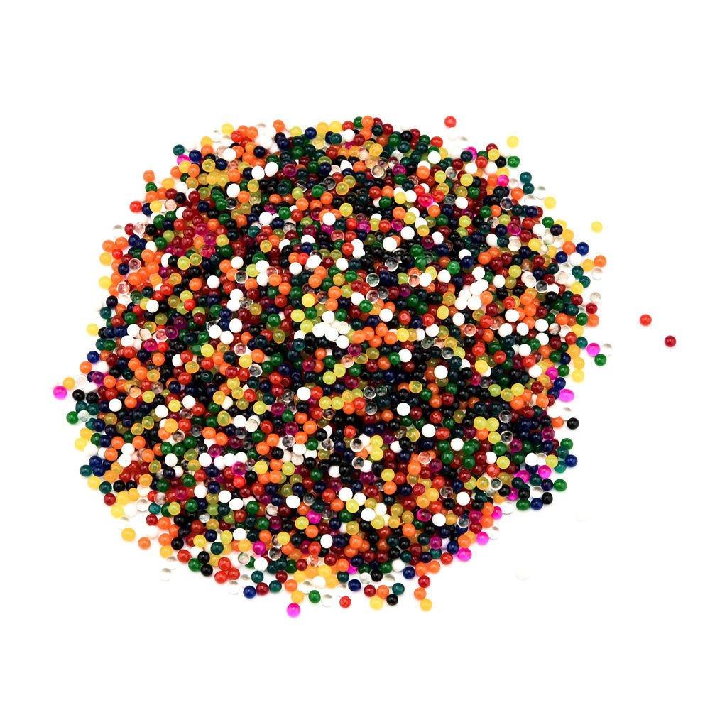 JPJ(TM) ❤️Water Beads❤️100Pcs Fashion Crystal Soils Flower Mud Grow Magic Large Jelly Ball Water Beads Gel (Multicolor)