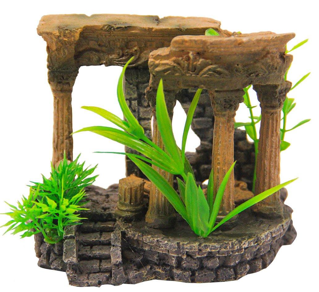 BPS® Decoración Acuario Ornamento Acuario Seguro para la Decoración de Tanque de Pez Fish Tank 10 x 13 x 7 cm BPS-6553