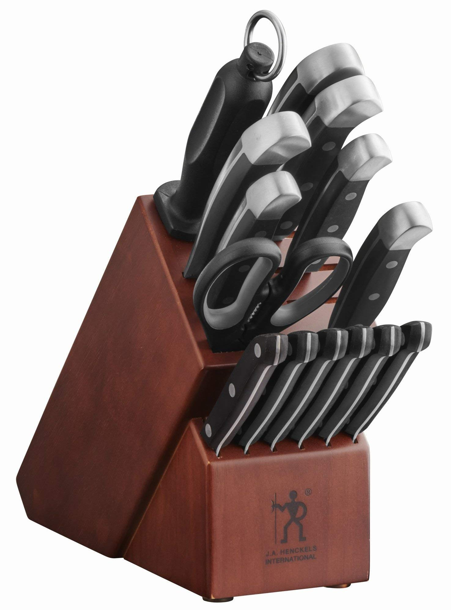 J.A. Henckels International Statement 14 Piece Cutlery Set + Dark Wood Block