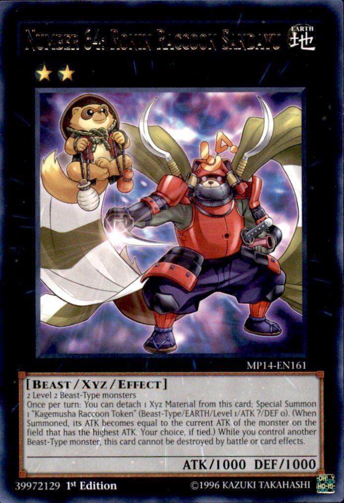 Number 63 Shamoji Soldier NUMH-EN031 Super Rare Yu-Gi-Oh Card 1st Edition