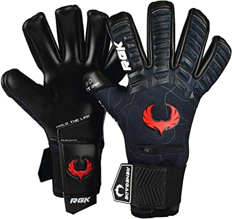 Fury Sub-Z Goalie Goalkeeper Gloves Soccer Fingersave Youth Adult Size 7-11