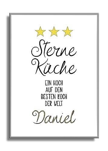 Kunstdruck Küche | Personalisiertes Kunstdruck Wandbild Drei Sterne Kuche Ein Hoch