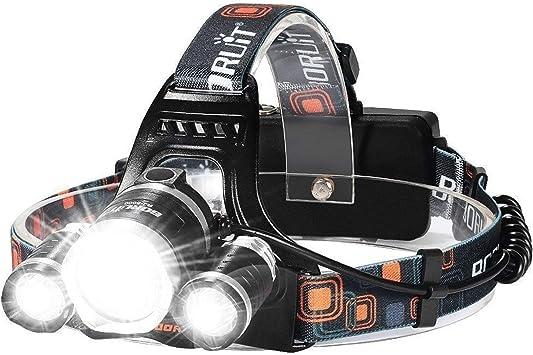 900000LM 5x LED Headlamp Rechargeable Headlight 18650 Flashlight Head Torch BT