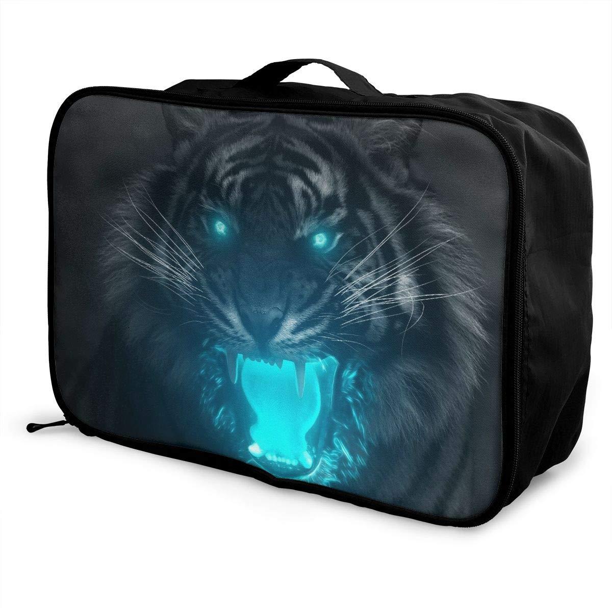 Travel Luggage Duffle Bag Lightweight Portable Handbag Fantasy Tiger Large Capacity Waterproof Foldable Storage Tote