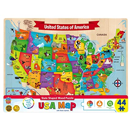 MasterPieces USA Wood Map
