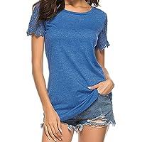 Luckycat Camisetas para Mujer Blusas Tops Camisetas Lentejuelas