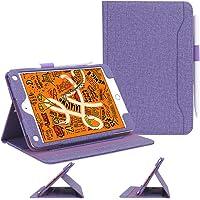 Skycase Funda iPad Mini 5 2019 / Funda iPad Mini 4 2015, [Múltiples Leyendo Ángulo] [Auto-Sueño/Auto-Estela] [con Ranuras para Tarjetas] [con elástico bucle de lápiz de Apple ] Funda para Apple iPad Mini 5ta Generación 2019 /iPad Mini 4 2015 (7.9 pulgada), Púrpura