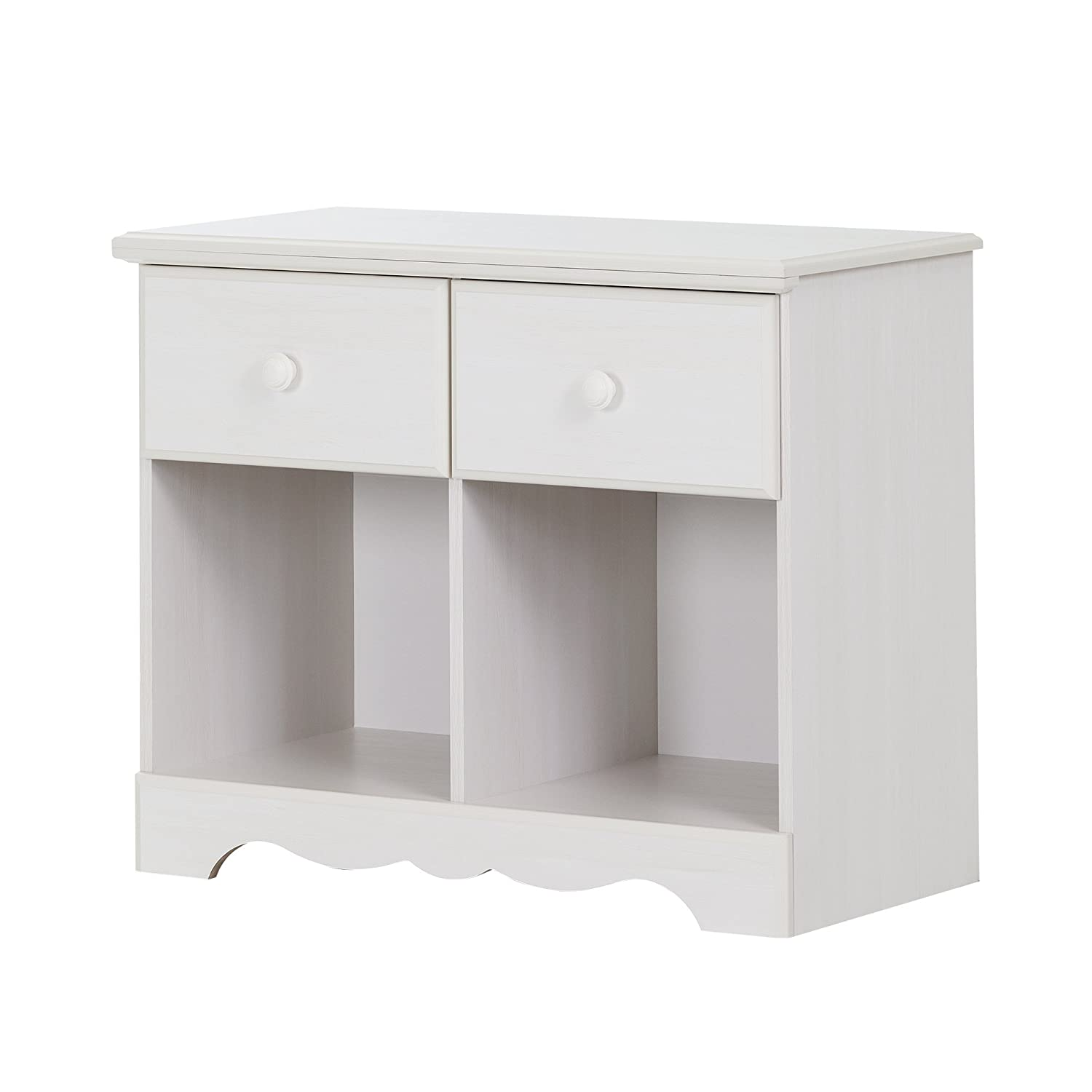 South Shore Furniture Summer Breeze 2-Drawer Double Nightstand, Blueberry 10206