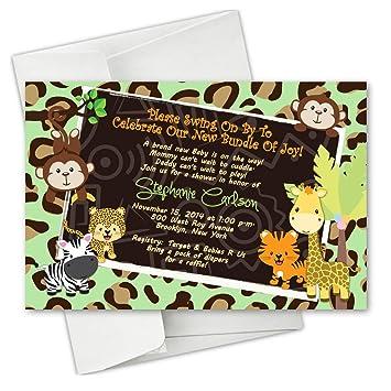 Amazon Com Cheetah Monkey Safari Animal Baby Shower Birthday Party