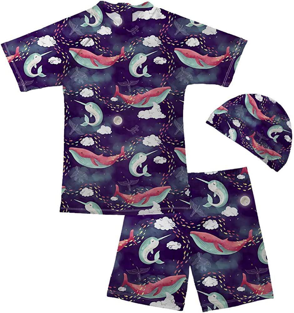 chaqlin Kids Boys Rashguard Swimsuit Bathing Suit Swimwear Sets Toddler Gifts