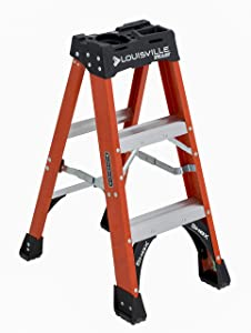 Louisville Ladder 3-Foot, 375-Pound Capacity, FS1403HD Fiberglass Step Ladder, 3-Feet