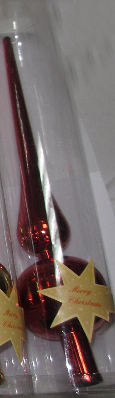 Christbaumspitze 28 cm in verschiedenen Farben gold-gl/änzend