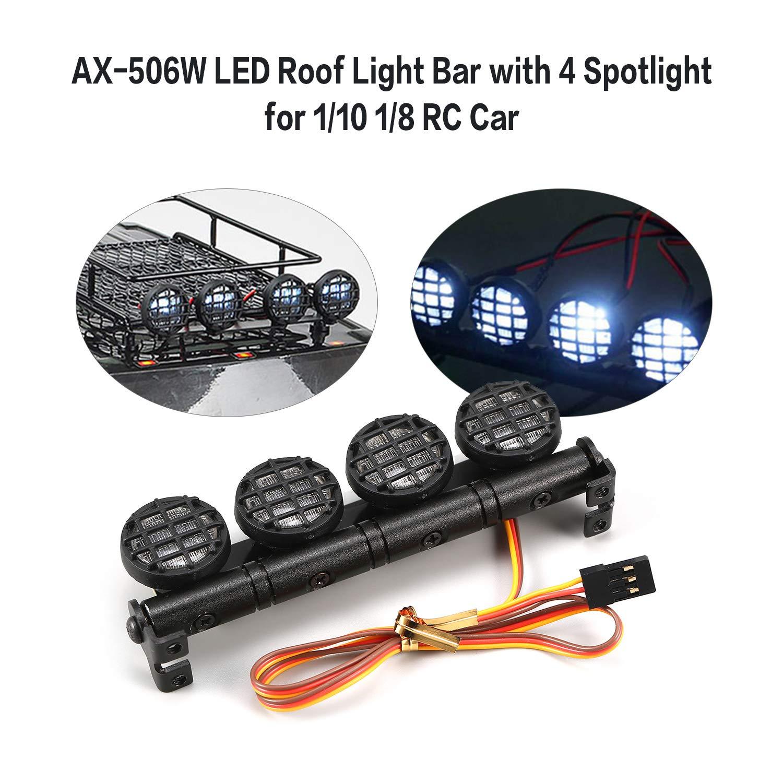 AX-506W Multifunktions-Dach-Lichtleiste LED-Lampen-Scheinwerfer f/ü r 1//10 1//8 RC Car FairytaleMM