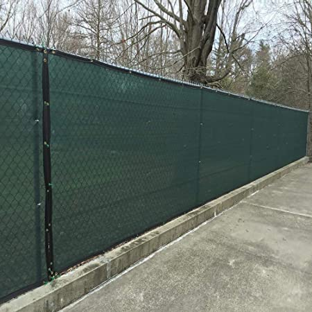 4/'x50/' Dark Green Commercial Fence Privacy Screen Shade Cover Fabric Mesh Garden