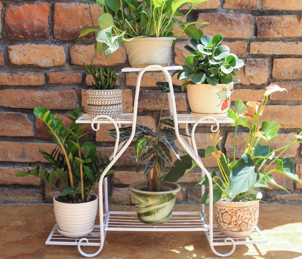 Hardy's store &Fioriere Supporto per fiori in ferro battuto Stand per fiori in multistrato per interni ed esterni Balcone multifunzionale per piante Stand piccolo (colore   A)