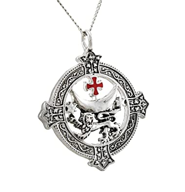 Amazon things2die4 metal mens pendant necklaces templar things2die4 metal mens pendant necklaces templar knights templar lion for power and success necklace silver mozeypictures Image collections