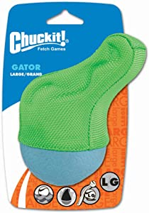 ChuckIt! Amphibious Gator Dog Toy, Large (Colors Vary)