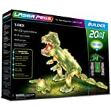 Laser Pegs T-Rex 20-in-1 Building Set; The First Lighted Construction Toy to Ignite Your Child's Creativity; It's Your Imagination, Light It Up