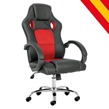 HOROES Silla Gaming de Escritorio Giratoria 360º Regulable - Rojo: Amazon.es: Hogar