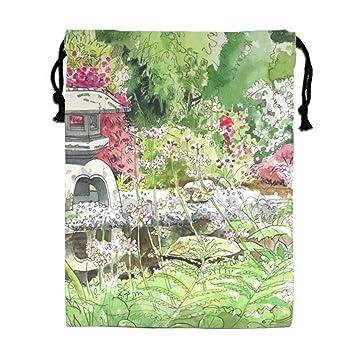 Amazon Com Unisex My Beautiful Garden Drawing Drawstring
