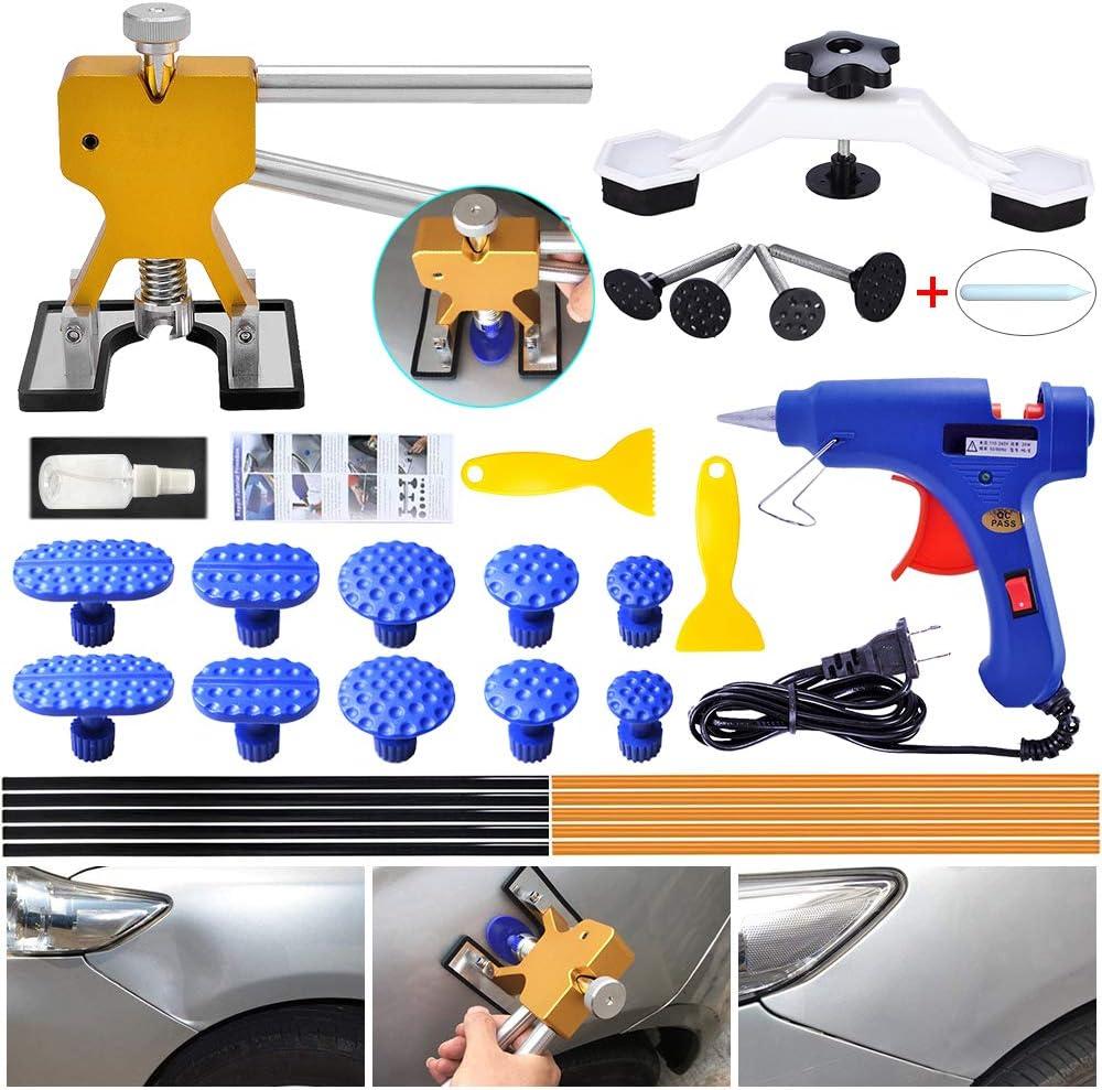 KEIBODETRD Repair Kit Paintless Dent Dent Lifter Bridge Glue Puller Tools for Car Door Ding Hail Home DIY Repair
