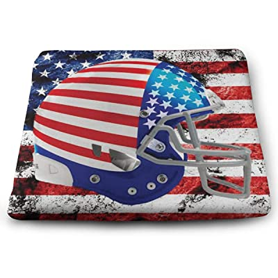 "Osvbs Helmet Flag Day (USA) Decorative Chair Pad Cushion 1.2"" × 13.8"" × 15.0"" for Home Office Dinning Chair Solid Color Indoor Outdoor: Home & Kitchen"