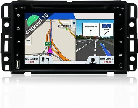 Amazon Com Android 9 0 Double Din Car Stereo For Gmc Chevy Silverado 1500 07 12 Gmc Sierra 07 13 Gmc Acadia 07 13 Gmc Yukon 07 13 Chevy Express Van 08 11 Chevy Suburban 07 12 Chevy Tahoe 07 12 Camera Canbus Gps Navigation