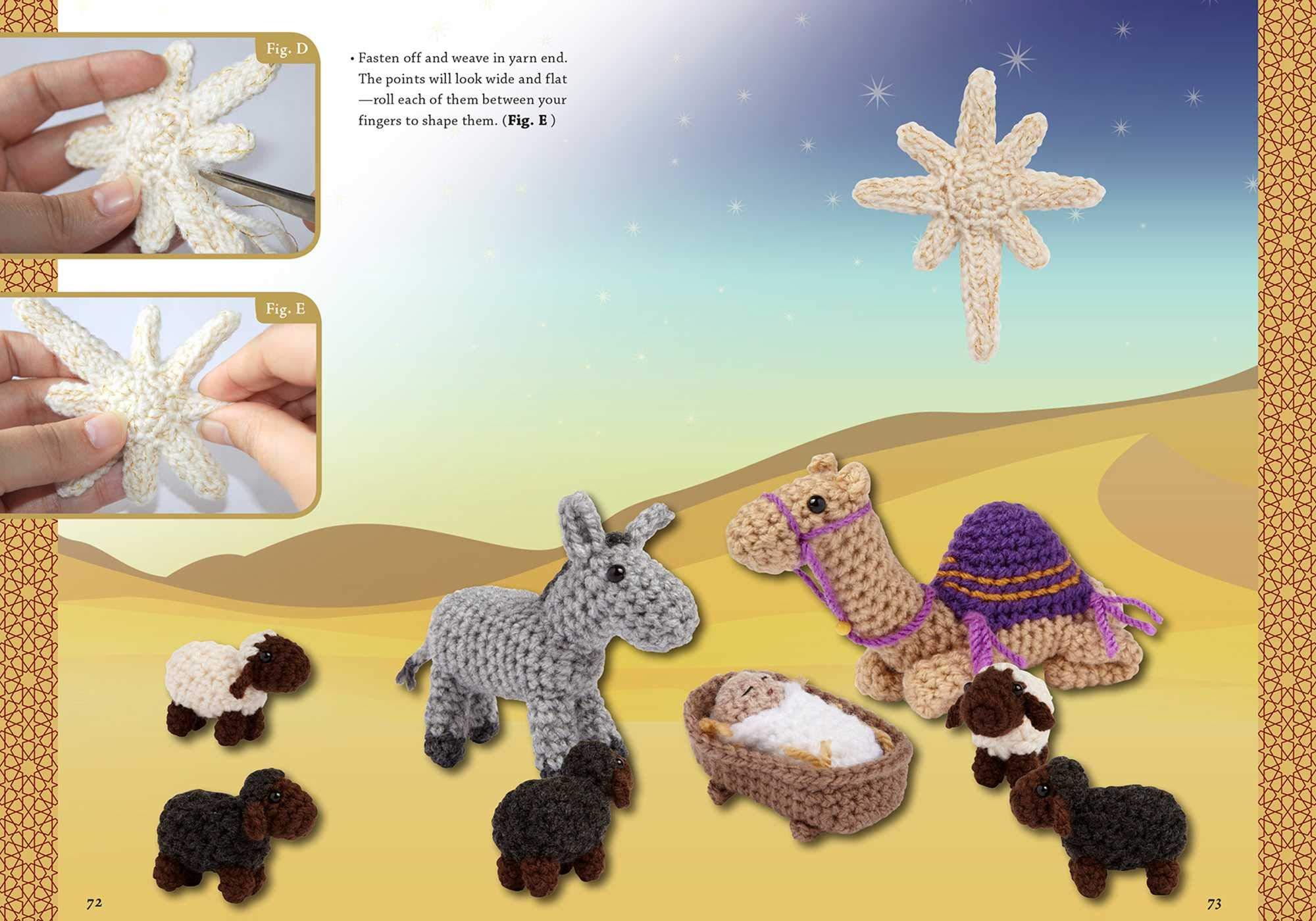 Nativity scene with Jesus Maria to Joseph and the donkey amigurumi ... | 1400x2000