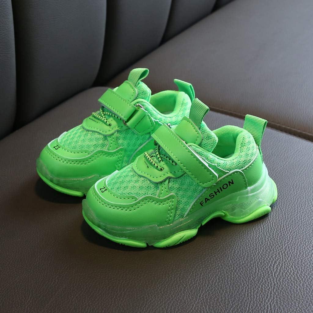 Chaussures dext/érieur l/ég/ères en Maille color/ée Chaussures de Sport Chaussettes /élastiques antid/érapantes Igemy Baskets de Course /à Pied pour Enfants