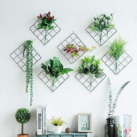 Axiba Decoration Salon Chambre Mur Pendentif Plante Verte Fer Maison