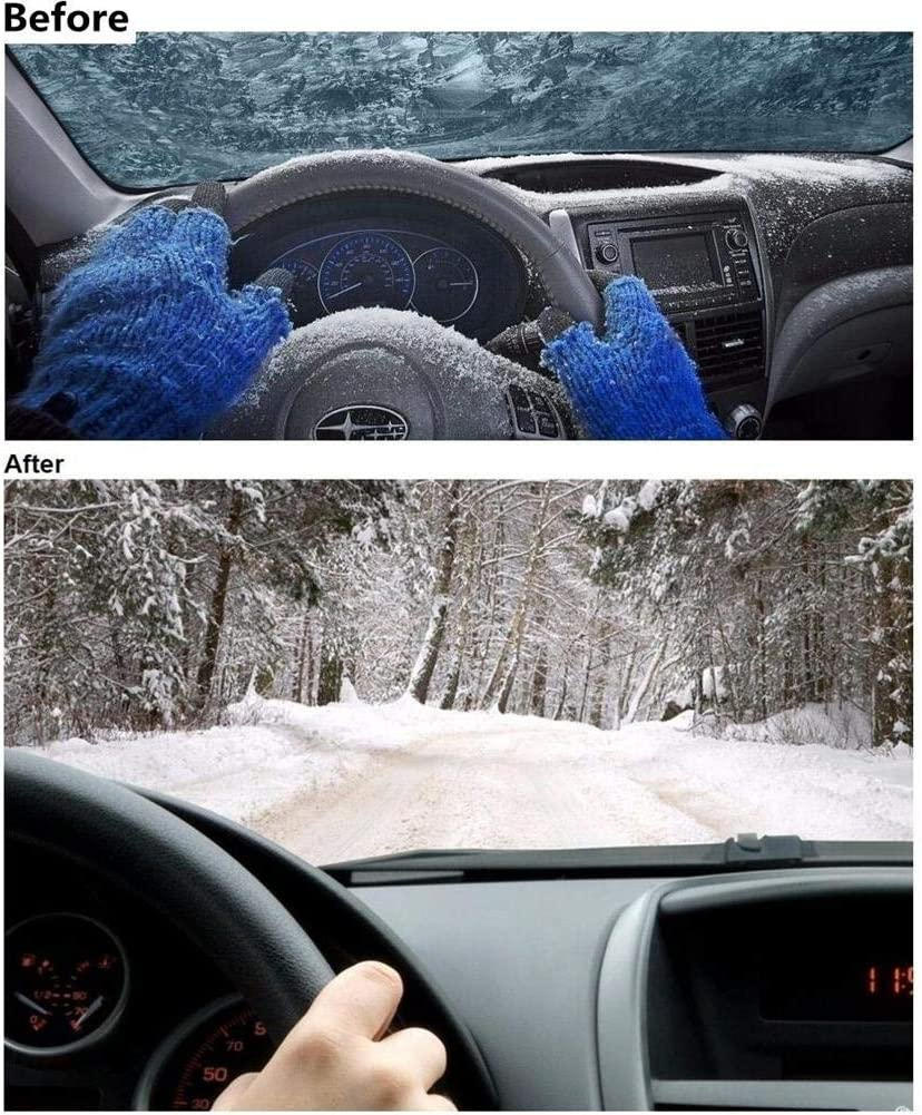 Calmson DC 12V 24W 3 Hole Portable Car Vehicle Heating Cooling Heater Defroster Demister for Cold Winter Red//Black
