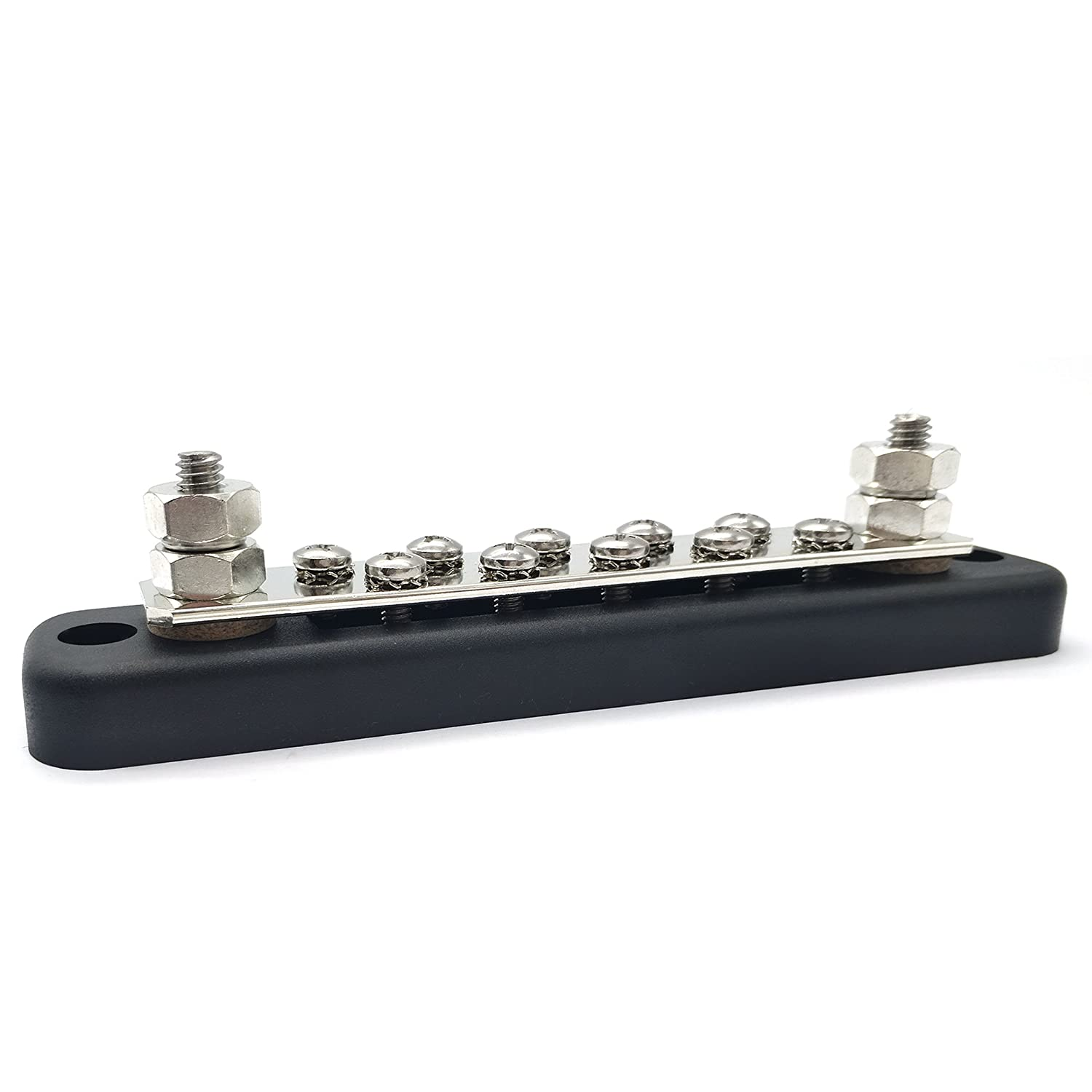 Iztor 150A Line Buss Bar 10 Screw Terminals Ground Distribution Block Kits
