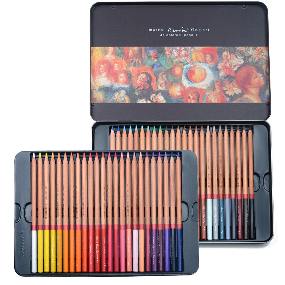 newdoer marco Renoir aceite de 48 colores lápices de colores para ...