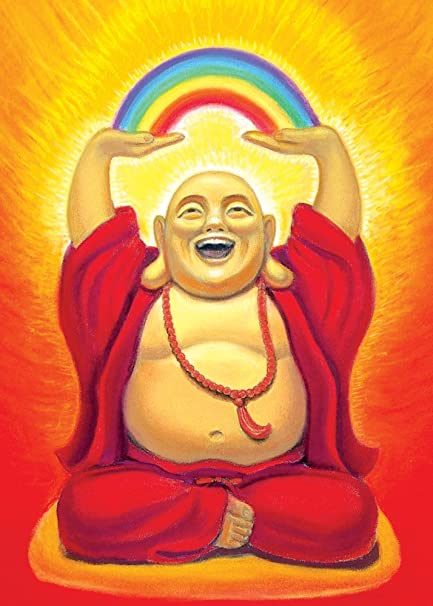 Amazon tree free greetings laughing buddha birthday cards 2 tree free greetings laughing buddha birthday cards 2 card set multicolored 14126 m4hsunfo