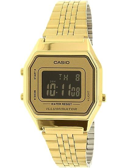 CASIO LA-680WGA-9B - Reloj con movimiento cuarzo, para mujer, color dorado: Casio: Amazon.es: Relojes