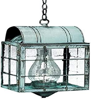product image for Brass Traditions 112 SHVG Large Hanging Lantern 100 Series, Verde green Finish 100 Series Hanging Lantern