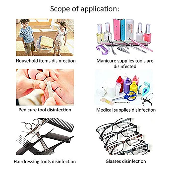 Xiaoduguim UV Mini Sterilisers Disinfection Box Tool Sterilizer Cabinet Beauty Salon Suitable for Scissors Toys Towels and Many More Baby Bottles