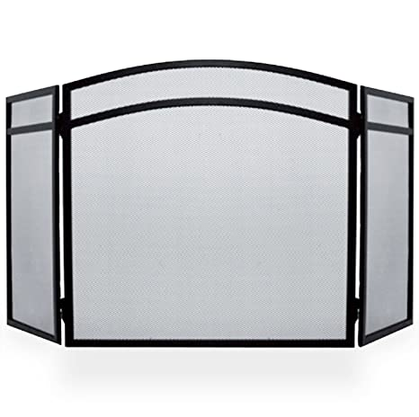 Simpa® Protector de chimenea Fire Protector de pantalla Spark llama arco 3 Panel plegable diseño